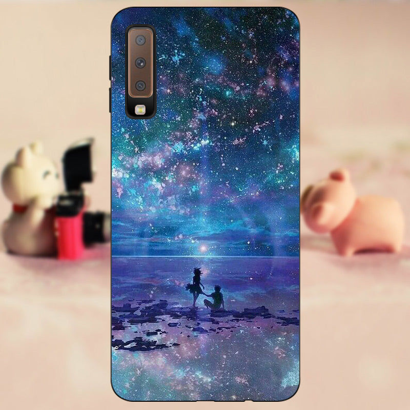 FANATU For Coque Samsung Galaxy A7 2018 Phone Silicon Case For Capa Samsung Galaxy A7 2018 SM-A750F Funda Back Protective Cover