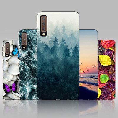 FANATU For Funda Samsung Galaxy A7 2018 Phone Case SFor Samsung A7 2018 Silicon Case Bumper For Capa Samsung Galaxy A7 2018 A750