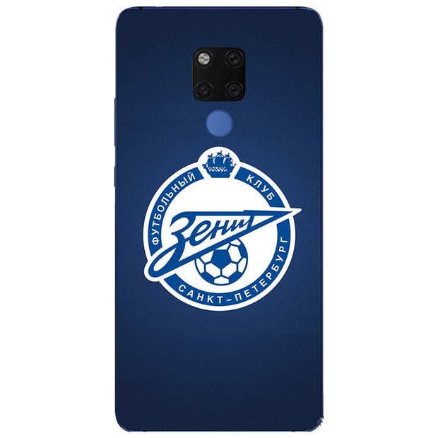 FC Zenit Football Logo Silicone Painting Case For Huawei Mate 10 20 X Lite Pro Nova 2i 3 3i P Smart Plus Phone Printed Cover