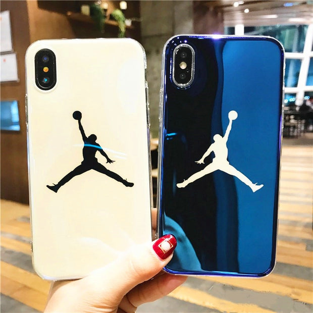 Fashion Blu-ray Laser Ultra Thin NBA 23 Michael Jordan TPU Soft Case For Iphone 6 6s 7 8 Plus Back Cover For Iphone X XS MAX XR