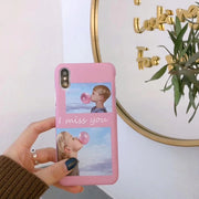 Fashion I Miss You Chewing Gum Inset Pattern Matte Hard Case For Iphone 8 8 Plus 7 7 Plus 6 6s 6 Plus Case Back Cover Fundas