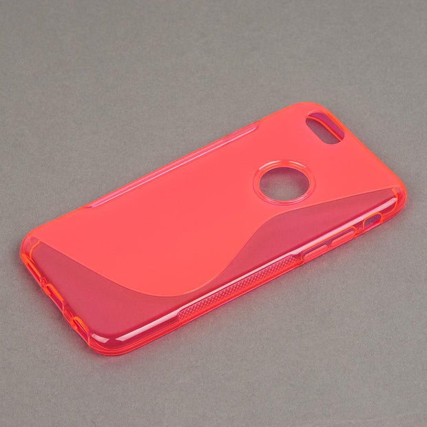 Fashion Pink Soft Phone Case Back Cover For IPhone 6 Easy To Install And Disassemble Anywhere You Need Solid
