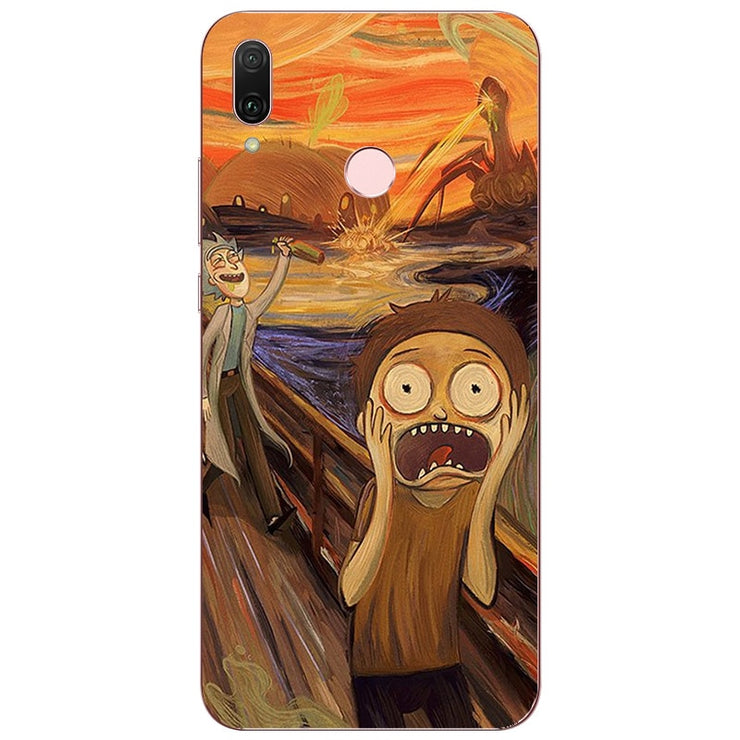 rick and morty cover huawei