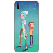 Fashion Rick And Morty Cartoon Soft Silicone Painting Case For Huawei P20 Lite Pro Y9 2019 Honor 8C 8X Max Phone Printed Cover