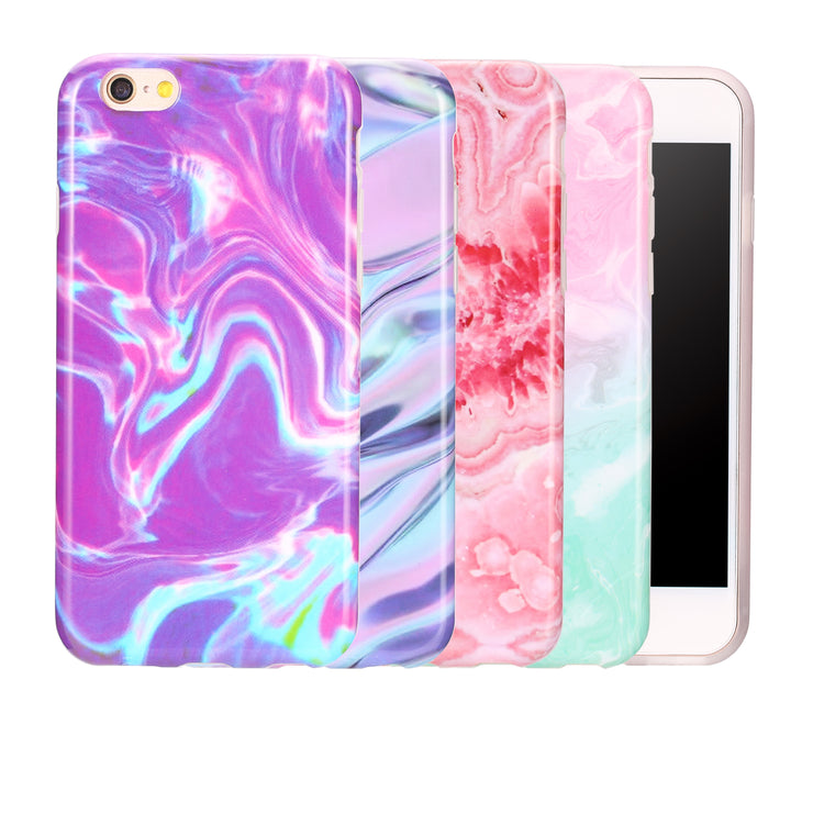 Fashional Gradien Scrub Coral Marble Case For Iphone 7 7 Plus 6 6S Plus Soft IMD Phone Cases For IPhone7