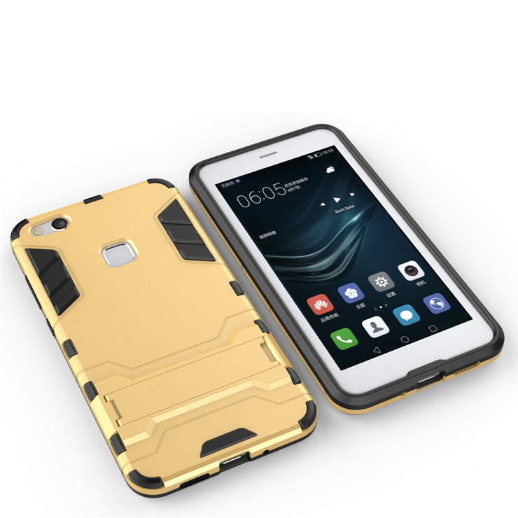 Fecoprior P10Lite TPU Silicon Back Cover Case For Huawei P10 Lite Nova Lite 2in1 Stand Armor Hard Smart Phone Celulars Coque