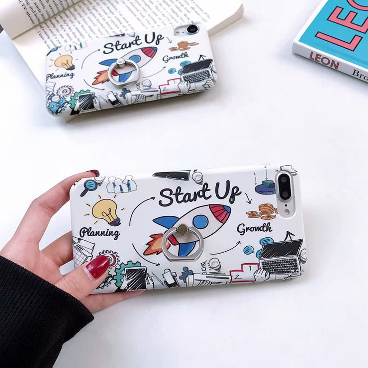 Fighter Matte Planet Plane Patterned Case For IPhone XS Max XR Aircraft Airplane Cover For IPhone X 6s 7 8 Plus Kickstand Capa