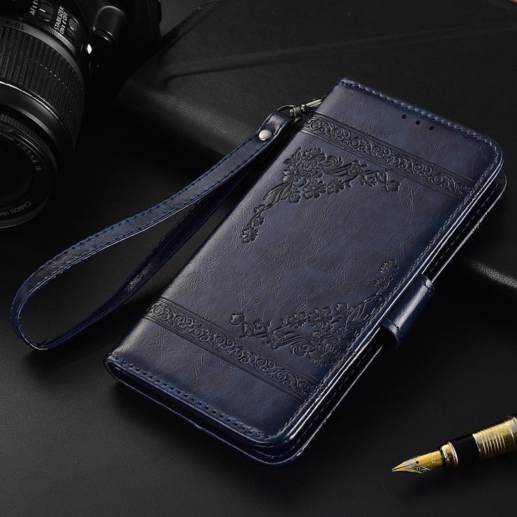 Flip Leather Case For ZTE Blade Max View Fundas Printed Flower 100% Special  Wallet Stand Case With Strap