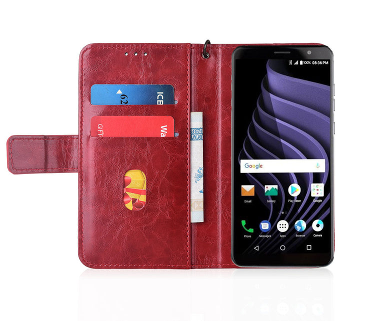 Flip Leather Case For ZTE Blade Max View Fundas Printed