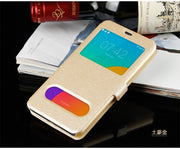 Flip View Shell Cover Leather With Card Holder Phone Bag Holster Case For Meizu A5 M6 M5S M3 M2 M3S M15 NOTE E3 U10 Coque