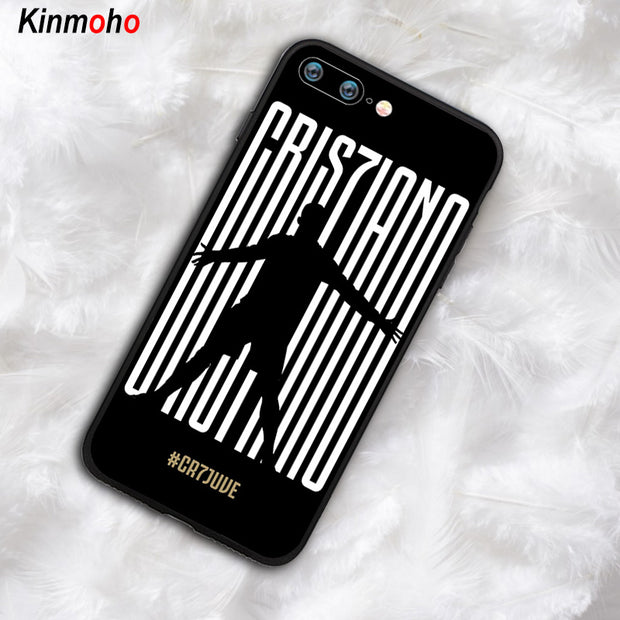 Football Juventus Cristiano Ronaldo CR7 Phone Case Cover For IPhone 7 8 Plus 6 6s 5s SE X XS MAX XR 10 7Plus Soft Black TPU Capa