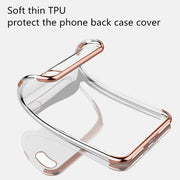 For Apple IPhone X Case Soft Cover Coque Ultra-thin Clear Plating Frame Bumper Funda For IPhone X XR XS Max Phone Case Cover