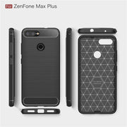 "For Asus ZenFone Max Plus M1 ZB570TL 5.7"" Case Luxury Brushed Carbon Fiber Texture Soft Back Cover For Max Plus M1 ZB570TL X018D"