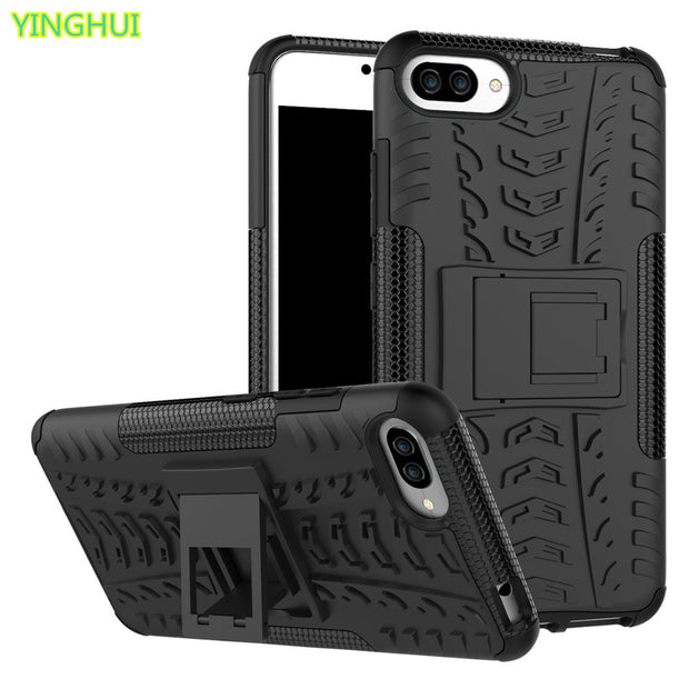For Asus Zenfone 4 Max ZC554KL Case TPU & PC Silicone Dual Armor Back Cover With Stand Holder Hard Case For Asus ZC554KL