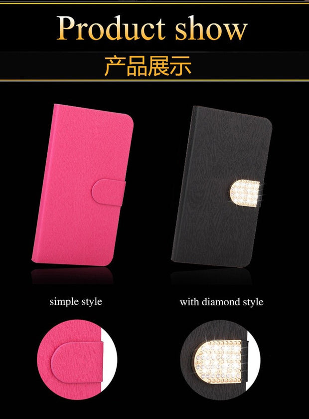 For Flip ZTE Blade A601 Case PU Leather Wallet Silicone Back Phone Cover For ZTE Blade Z10 A512 A510 L5 AF3 L110 A110 Case Bag