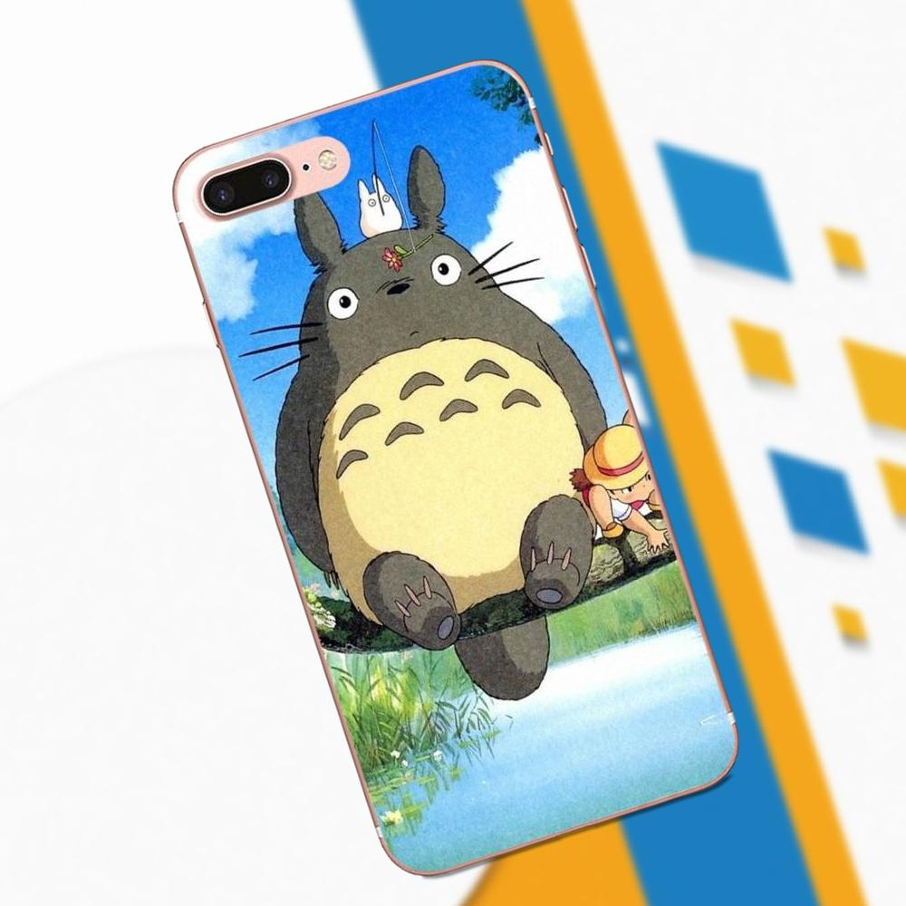 For HTC 530 626 628 630 816 820 One A9 M7 M8 M9 M10 E9 Plus U11 Moto G G2 G3 G4 G5 TPU Print Capa Cute Totoro