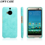 For HTC M9 Plus Luxury Crocodile PU Leather Skin Hard Back Cover Protective Phone Case For One M9 Plus