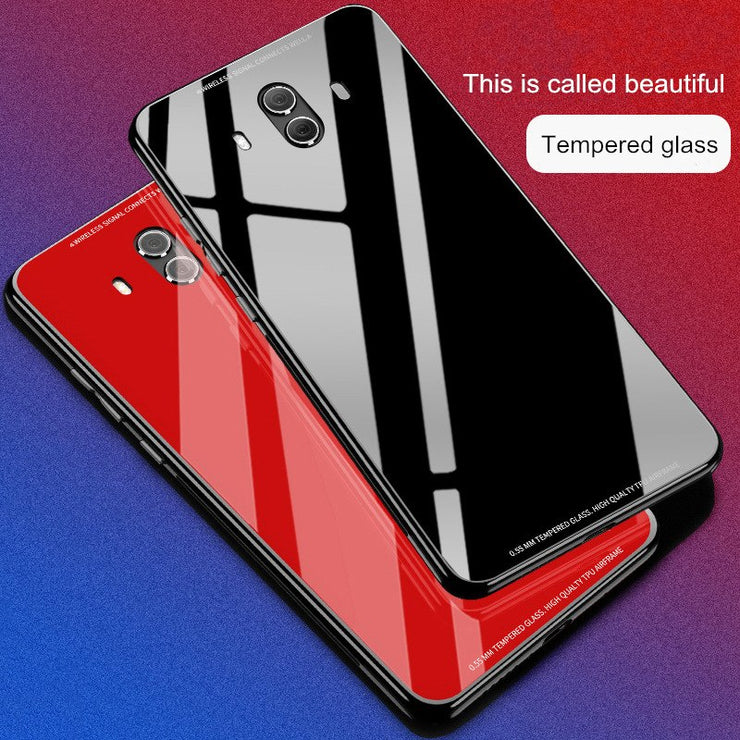 For HUAWEI P20 Pro P20 Lite P10 Plus Honor 10 V10 9 Lite Case Luxury 9H Tempered Glass Phone Case For HUAWEI Mate 9 Mate 10 Pro
