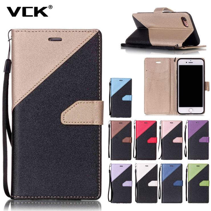 For Huawei Gr5 Magic P10 2017 P8 Lite P9 Lite 2017 Y3 II Y5 II Y6 II 2 Leather Wallet Flip Case Fashion Hit Color Slot Cover