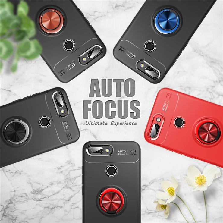 For Huawei Honor 10 Lite Case Car Holder Stand Magnetic Bracket Finger Ring TPU Case For Huawei Honor10 Lite Funda Coque Capa