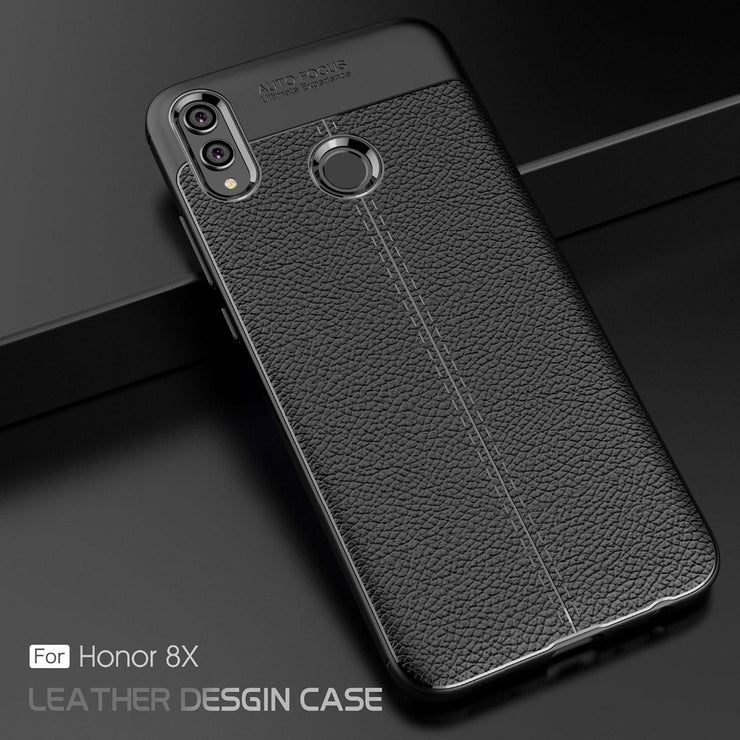 more photos 092e3 056d2 For Huawei Honor 8X Case Luxury Shockproof Leather Texture Soft Silicone  Matte Skin Bumper Case Cover On For Huawei Honor 8X