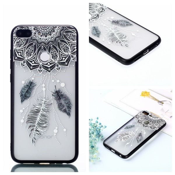 For Huawei Honor 9 Lite Cover Huawei Honor9 Lite Case For Huawei Honor 9 Lite 2in1 Hard Back Cover With Soft Frame