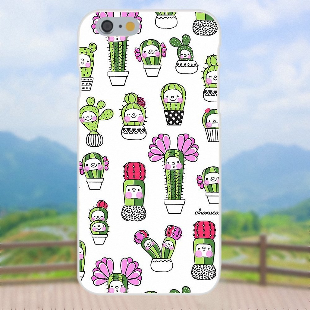For Huawei P7 P8 P9 P10 P20 P30 Mate 7 8 9 10 Lite Plus Pro 2017 Drawing TPU 2019 Simple Potted Cactus