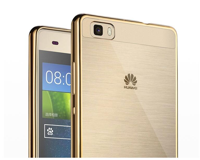 For Huawei P8 P9 Lite Plus Mate 7 8 S Honor V8 Case Slim Plating Side Transparent Soft Cover Nature Phone Protective Skin Shell