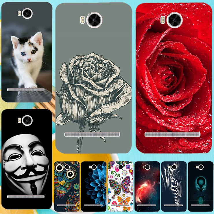 For Huawei Y3 2 Y3II-U22 LUA-U22 Lua-L21 Case Cat Owl Leopard