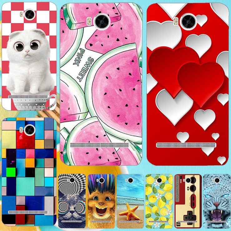 For Huawei Y3 2 Y3II-U22 LUA-U22 Lua-L21 Case Cat Owl Leopard Butterfly  Flower Phone Hard PC Back Cover Case For Huawei Y3II