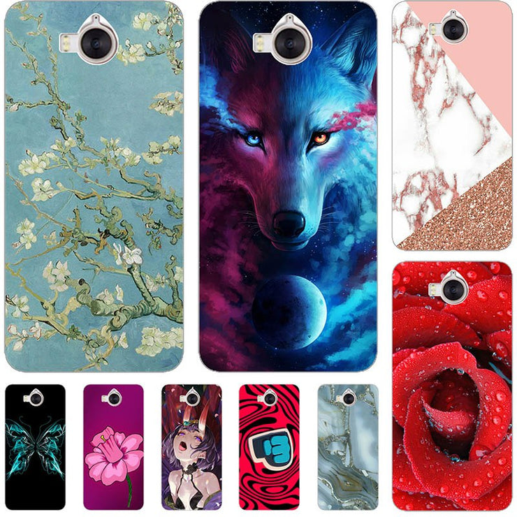moda firmata ecb76 15055 For Huawei Y5 2017 Cases Cover For Huawei Y6 2017 Cover Plastic Phone Case  For Huawei Y5 III Fundas For Huawei Honor 6 Play Bags