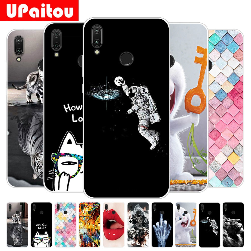 "For Huawei Y9 2019 6.5"" Printing Soft TPU Case Paterned Silicon Cover For HUAWEI Y9 2019 - 6.5 Inch Back Shell"