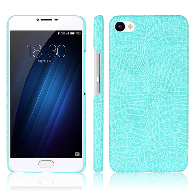 For Meizu U10 Case 5.0 Inch Luxury Crocodile PU Leather Skin Hard PC Back Cover Phone Case
