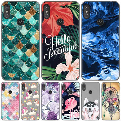 For Motorola Moto One Case Motorola One Capa Cute Animal Painted TPU Silicon Marble Phone Case For Motorola Moto One Power Cover