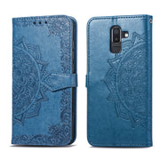 For SAMSUNG Note J8 2018 Case Flip Leather Mandala Flower Phone Case Cover Coque