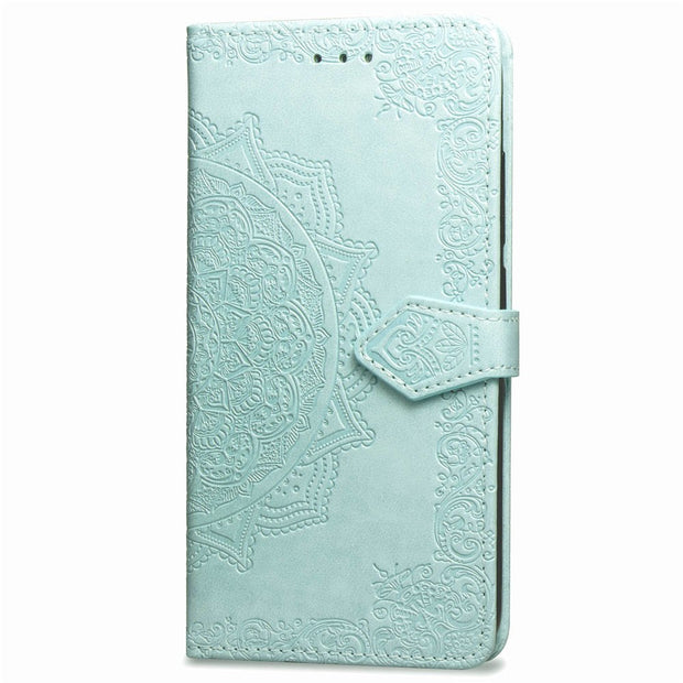 For SAMSUNG S7 Edge Case Flip Leather Mandala Flower Phone Case Cover Coque