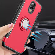 For Samsung C8 Case Magnetic Car Holder Absorption Rotating Finger Covers Silicone Shockproof Cases SFor Samsung C8 C7100ZKGCHC