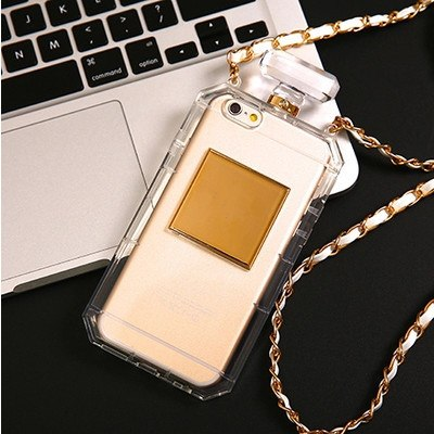 For Samsung Galaxy J1 2016 J5 2016 J7 2016 Case Luxury Perfume Bottle TPU Soft Phone Case Handbag With Chain Phone Back Cover