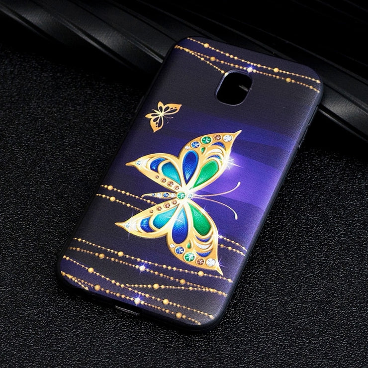 For Samsung Galaxy J2 J3 J5 J6 J7 Case Soft TPU 3D Embossing Fashion Floral For Samsung Galaxy J3 J5 J7 Case 2017 J330 J530 J730