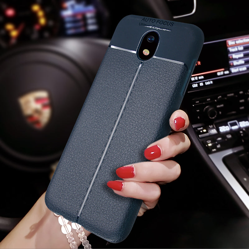 For Samsung Galaxy J5 2017 J530 Case Vintage Litchi Leather Pattern Soft Silicone Case For Galaxy J3 J7 2017 J730 J330 Pro Cover