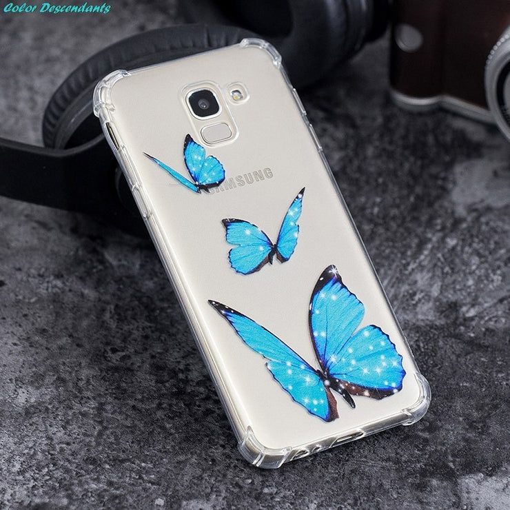 For Samsung Galaxy J6 2018 Case 360 Degree Full Body Cover Case For Samsung J6 2018 Shockproof Case Airbag Anti-fall Phone Cover