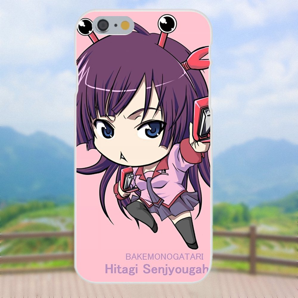 For Samsung Galaxy Note 5 8 9 S3 S4 S5 S6 S7 S8 S9 S10 Mini Edge Plus Lite Cover Anime Senjougahara Hitagi Bakemonogatari