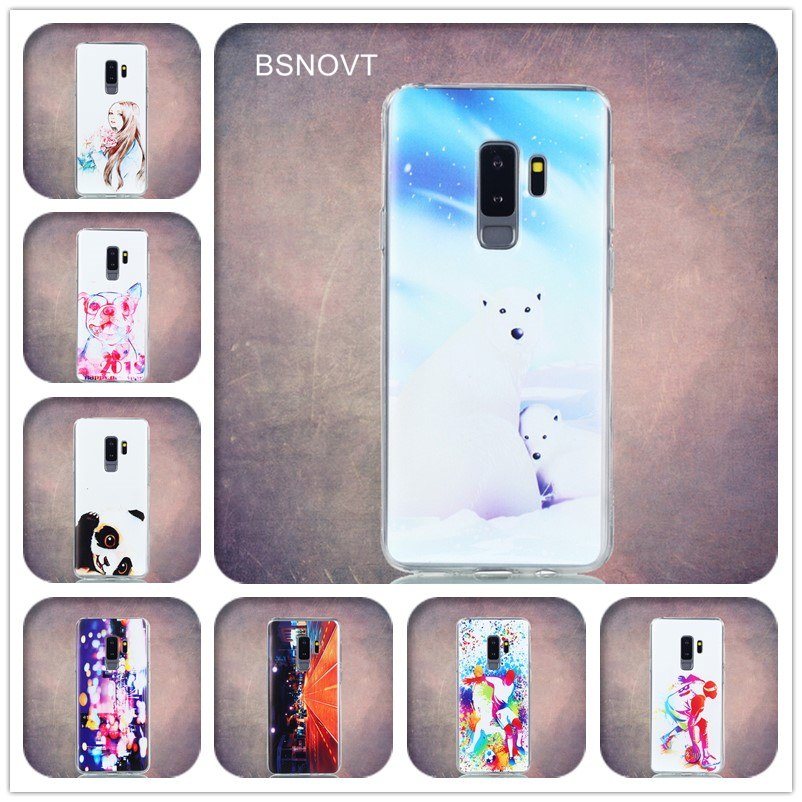 For Samsung Galaxy S9 Plus Cover Soft TPU Back Printed Colorful Phone Case For Samsung Galaxy S9 Plus S9Plus Fundas 6.22""