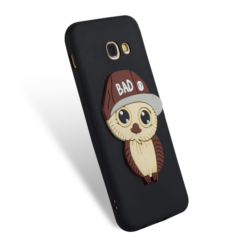 For Samsung Galaxy A3 A5(2016)A310 A510 A3 A5(2017) A320 A520 A8 A8Plus(2018) Owl Pattern 3D Cover TPU Phone Cases Cover
