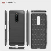 For Sony Xperia XZ3 Case Silicone Brushed Carbon Fiber ShockProof Soft Back Cover For Xperia XZ2 Compact / XZ2 Premium Coque XZ4