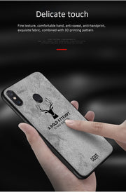 For Xiaomi 6X Phone Case Super Soft Plush Fluffy Cloth 3D Patterned Deer Soft TPU Edge Mobile Phone Shell