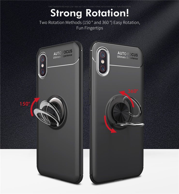 For Xiaomi MI 8 SE Luxury Car Holder Magnetic Bracket Ring Case For MI8 Explorer Edition 360 Rotating Finger Ring Back Cover