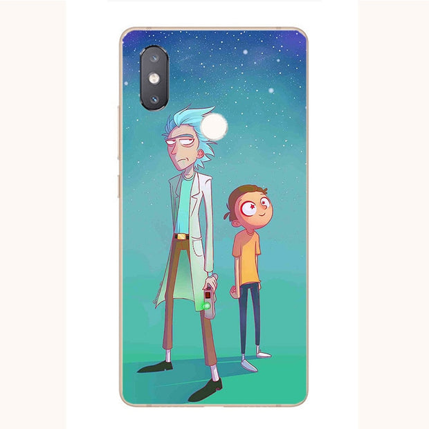 For Xiaomi Mi A1 A2 6 8 SE Pro Lite 5X 6X 8X Redmi S2 Y2 Note 5 6 Pro Rick And Morty Cartoon Soft Silicone Phone Printed Cover