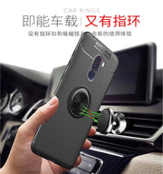 For Xiaomi Pocophone F1 Armor Case Car Holder Stand Magnetic 360 Bracket Finger Ring TPU Back Cover Xiaomi Poco F1 F 1 Coque