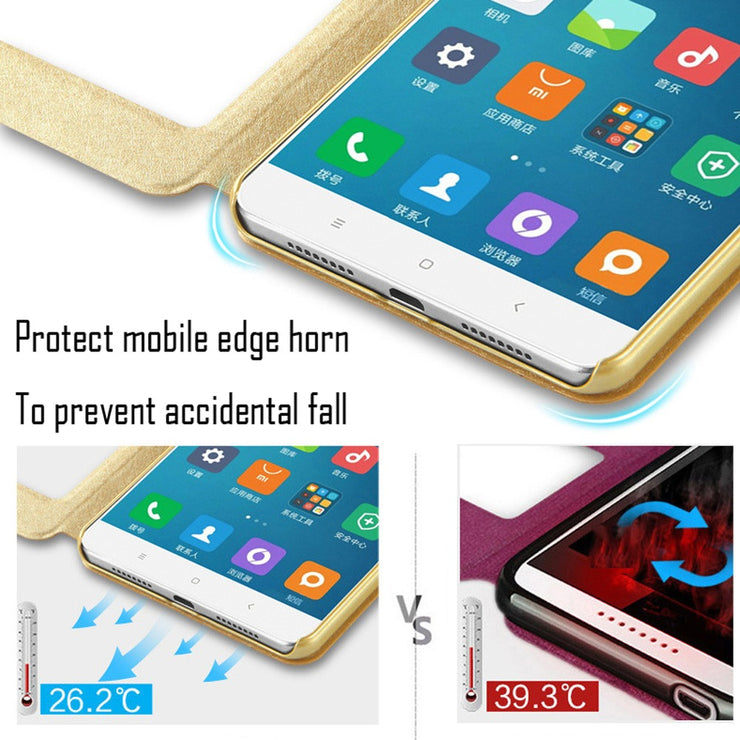 For Xiaomi Pocophone F1 Mi8 SE Mi5X Mi6X MiA1 MiA2 Lite Mi6 Mi5s Plus Mi5 Flip Case For Xiaomi Mi Max 3 Mix 2S Note 2 3 Cover
